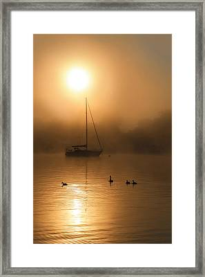 Bayside Sunrise 1 Framed Print by Lori Deiter