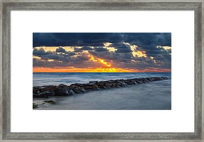 Bayside Sunset Framed Print by Bill Wakeley