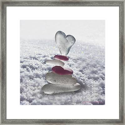 Be Careful With My Heart Framed Print by Barbara McMahon