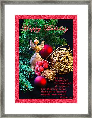 Be Good To An Angel-hh Framed Print by Terry Wallace