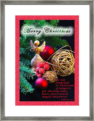 Be Good To An Angel-mc Framed Print by Terry Wallace