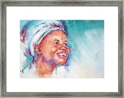 Be Happy Framed Print by Stephie Butler