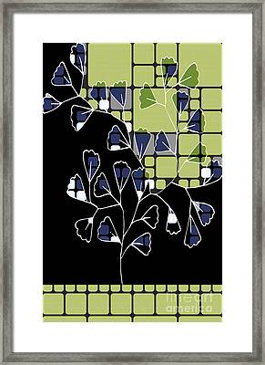 Be-leaf - Green 02ab03 Framed Print by Variance Collections