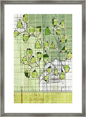 Be-leaf - Green 03-ab202t2 Framed Print by Variance Collections