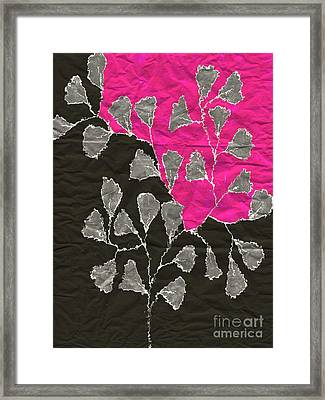 Be-leaf - Pink 03-01at4 Framed Print by Variance Collections