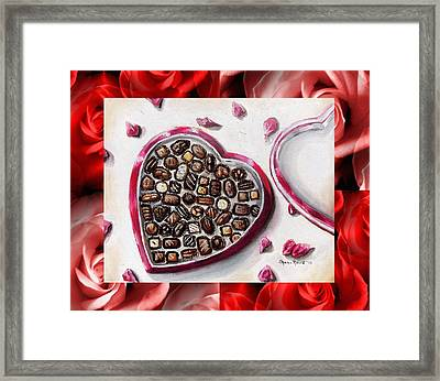 Be My Valentine Framed Print by Shana Rowe Jackson