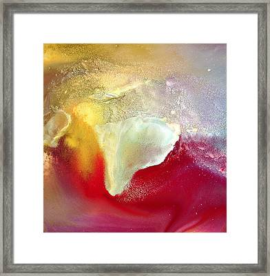 Be Or Not To Be - Red Yellow White Abstract Art By Kredart Framed Print by Serg Wiaderny