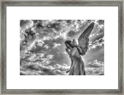Be Silent Framed Print by Andres Leon