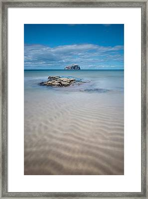 Beach At Bass Rock Framed Print by Keith Thorburn LRPS