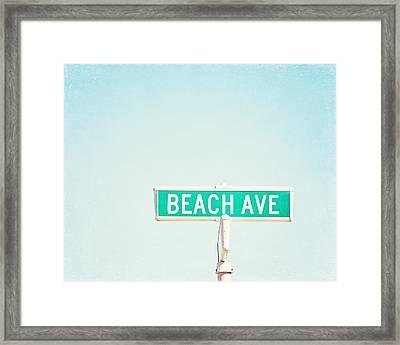 Beach Ave. Framed Print by Carolyn Cochrane