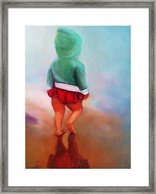 Beach Baby Bella Framed Print by Barbie Baughman