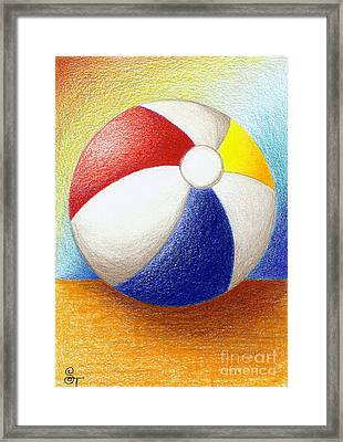 Beach Ball Framed Print by Stephanie Troxell