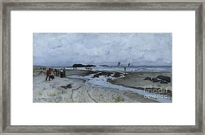 Beach Bank Framed Print by Frits Thaulow