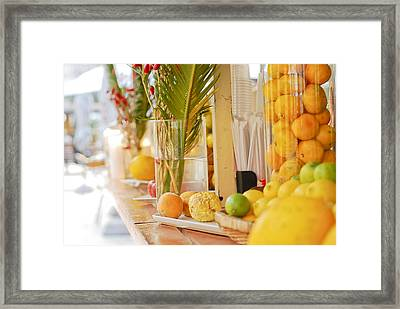 Beach Bar Framed Print by Mesha Zelkovich