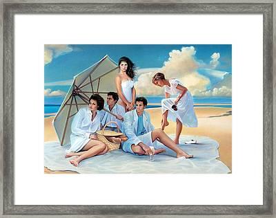 Beach Blanket Bingeaux Framed Print by Patrick Anthony Pierson