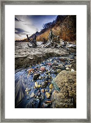 Beach Brook At Scarborough Bluffs Framed Print by Elena Elisseeva