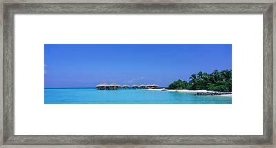 Beach Cabanas, Baros, Maldives Framed Print by Panoramic Images
