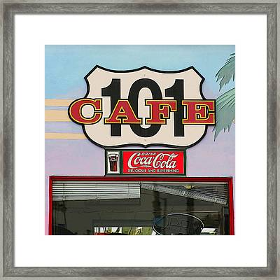 Beach Cafe Framed Print by Art Block Collections