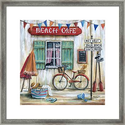 Beach Cafe Framed Print by Marilyn Dunlap