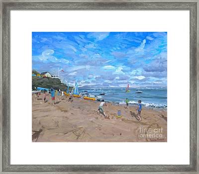 Beach Cricket Framed Print by Andrew Macara
