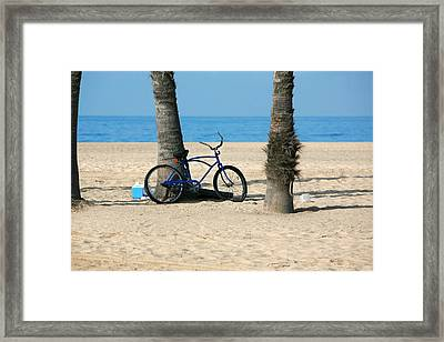 Beach Day Framed Print by Art Block Collections