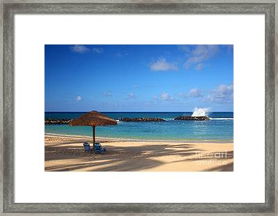 Beach Day Framed Print by Junko T Russell