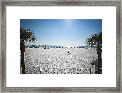 Beach Day Over Framed Print by Carolyn Marshall