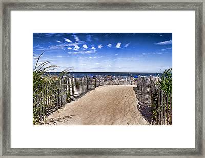 Beach Entry Framed Print by Trudy Wilkerson