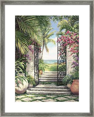 Beach Escape Framed Print by Laurie Hein