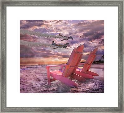 Beach Flight Framed Print by Betsy C Knapp