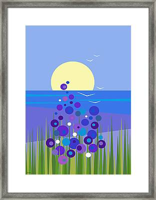 Beach Flowers - Cell Phone Framed Print by Val Arie