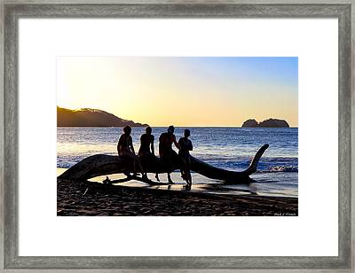 Beach Friends Are Best Friends - Costa Rica Framed Print by Mark E Tisdale
