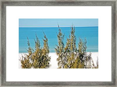 Beach Front View Framed Print by Aimee L Maher Photography and Art Visit ALMGallerydotcom