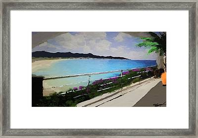 Beach Front View Framed Print by Anthony Fishburne