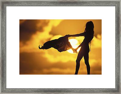 Beach Girl Framed Print by Sean Davey