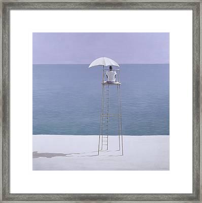 Beach Guard Framed Print by Lincoln Seligman