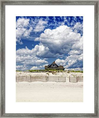 Beach House Framed Print by Vicki Jauron