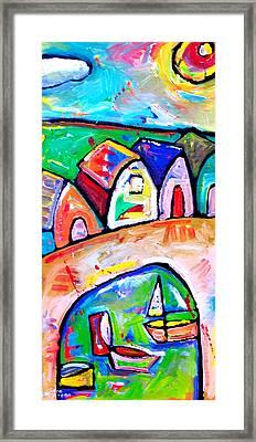 Beach  Huts  In  Pescara - Italy Framed Print by Sara Catena