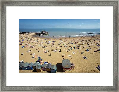 Beach In Summer Framed Print by Carlos Dominguez