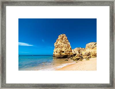 Beach In The Algarve Portugal Framed Print by Amanda And Christopher Elwell