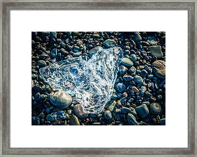 Beach Jewelry - Iceland Ice Photograph Framed Print by Duane Miller