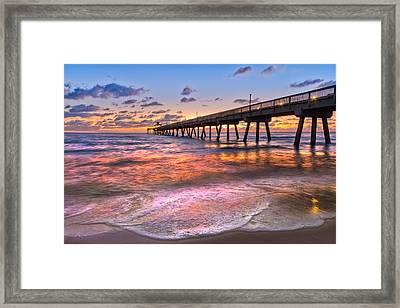 Beach Lace Framed Print by Debra and Dave Vanderlaan