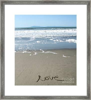 Beach Love Framed Print by Linda Woods