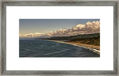 Agate Beach Framed Print by Maria Coulson