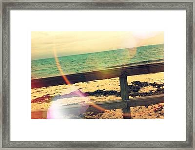 Beach Framed Print by Michael Le