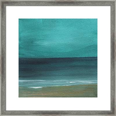 Beach Morning- Abstract Landscape Framed Print by Linda Woods