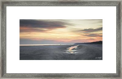 Beach Panorama Framed Print by Phill Doherty