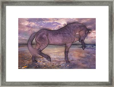 Beach Parade Framed Print by Betsy C Knapp