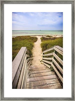 Beach Path Framed Print by Adam Romanowicz