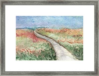 Beach Path Framed Print by Linda Woods